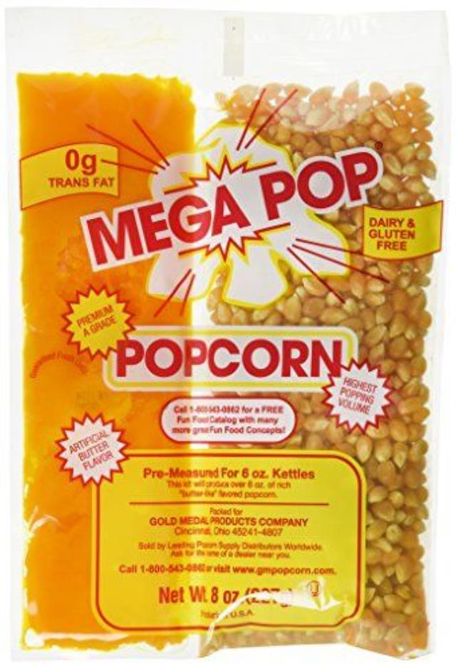 Where to find POPCORN, MEGAPOP 8 OZ in Newton