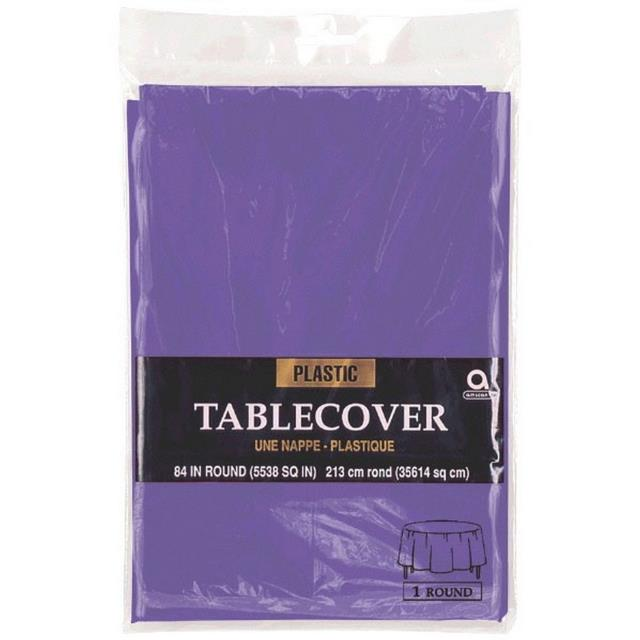Where to find TABLECOVER, 82  ROUND PLASTIC in Newton