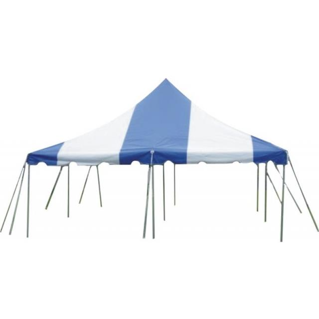 Where to find 15X15 BLUE WHITE CANOPY in Newton