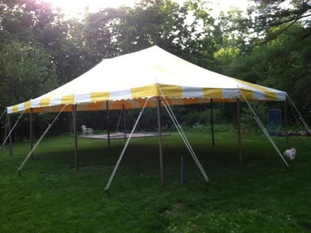 Where to find 20X30 YELLOW WHITE CANOPY in Newton